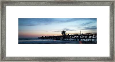 Orange County San Clemente Pier Panoramic Photo Framed Print