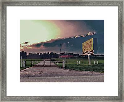 Orange County Speedway Framed Print by David A Brown