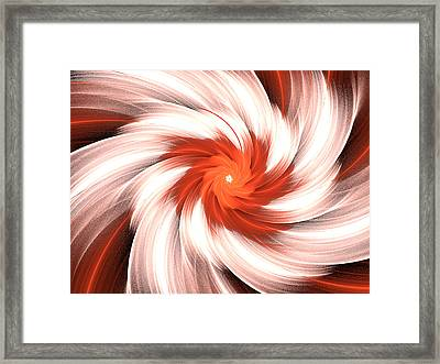 Orange Creme Framed Print