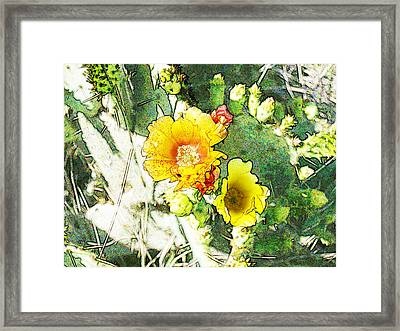 Orange Cup Wearing Fresco Framed Print by James Granberry