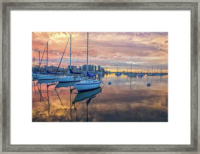Orange Dawn Framed Print