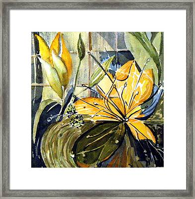 Orange Day Lily Framed Print