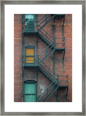 Orange Door Framed Print