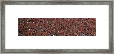 Orange Effect Celebration Game One 2015 Framed Print by Betsy Knapp