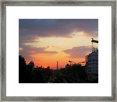 Orange Evening Sky Framed Print
