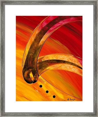Orange Expressions Framed Print by Sharon Cummings