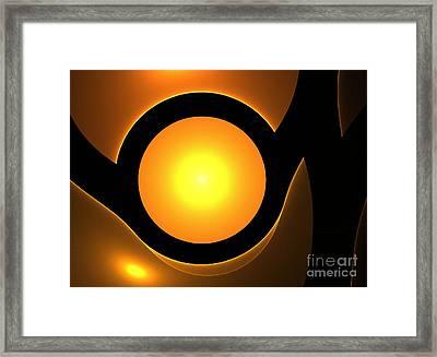 Orange Eye Framed Print by Steve K