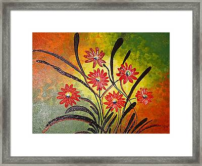 Orange For Happiness  Framed Print