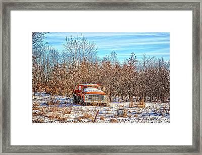 Orange Ford Dump Truck Framed Print