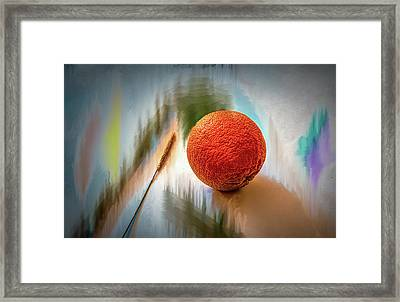 Orange #g4 Framed Print