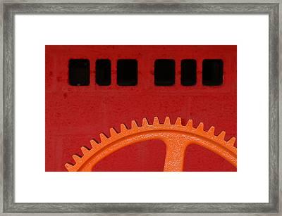 Orange Gear 1 Framed Print