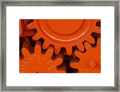 Orange Gear 2 Framed Print