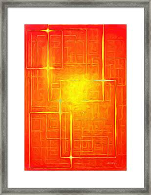 Orange Geometry - Da Framed Print