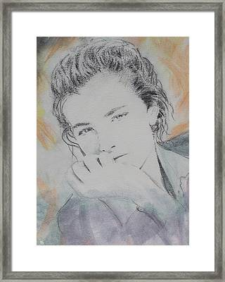 Orange Girl Framed Print