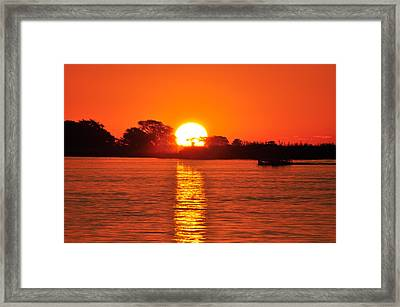Orange Glow Framed Print by Joe  Burns