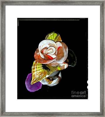 Orange Gold Rose For Valentine's Framed Print