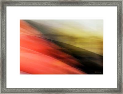 Orange Hills Framed Print