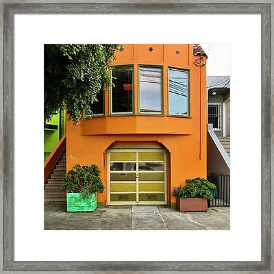 Orange House Framed Print