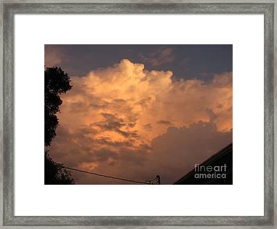 Orange Hue Framed Print