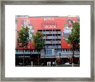 Orange Is The New Black Framed Print by Andrew Fare