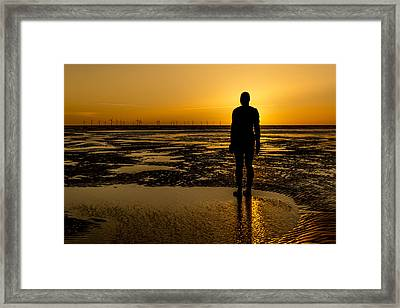 Orange Is The New Blue Framed Print by Paul Madden