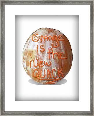Orange Is The New Quack Framed Print by Susan Maxwell Schmidt