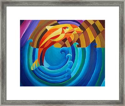 Orange Joy Framed Print by Esther King
