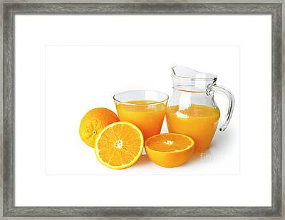 Orange Juice Framed Print by Carlos Caetano