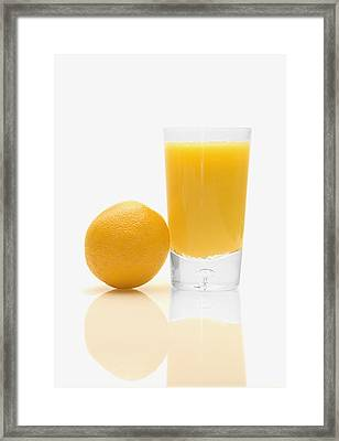 Orange Juice Framed Print by Darren Greenwood