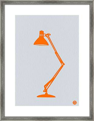 Orange Lamp Framed Print by Naxart Studio