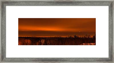 Orange Light Framed Print