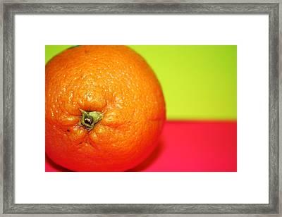 Orange Framed Print by Linda Sannuti