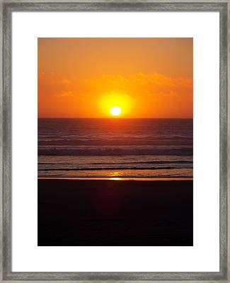 Orange Madness Framed Print