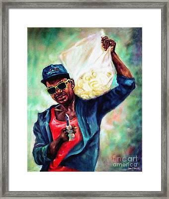'orange Man' 1991 Framed Print