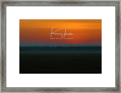 Framed Print featuring the photograph Orange Mara Dawn by Karen Lewis