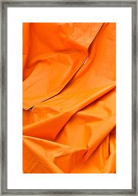 Orange Material Framed Print