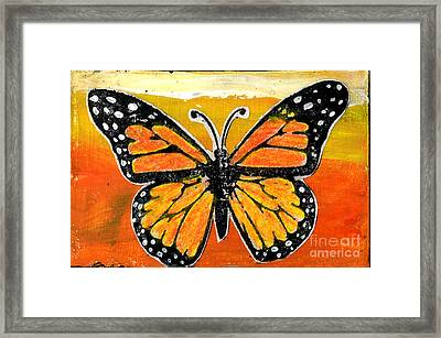 Orange Monarch Framed Print by Genevieve Esson