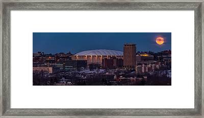 Orange Moon Rising Framed Print by Everet Regal