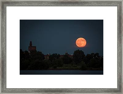 Orange Moon Framed Print