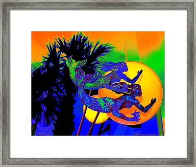 Orange Moon Synchronicity Framed Print