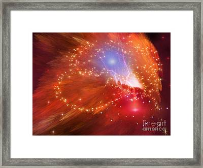 Orange Nebula Framed Print