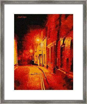 Orange Night - Pa Framed Print