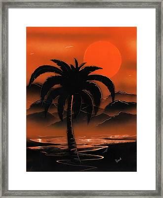 Orange Oasis Framed Print