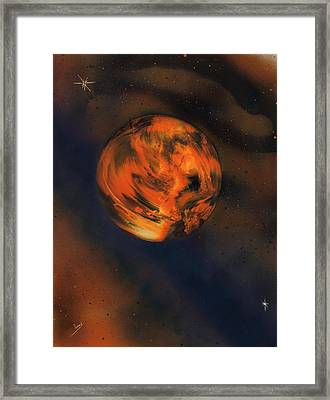 Orange One Framed Print