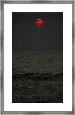 Orange Onyx Sunrise Framed Print