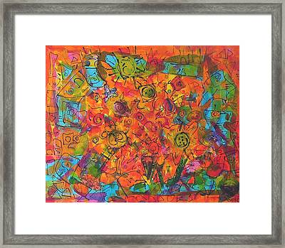 Orange Orange Framed Print