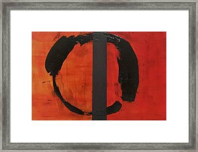Orange Order In Chaos Framed Print by Ellen Beauregard
