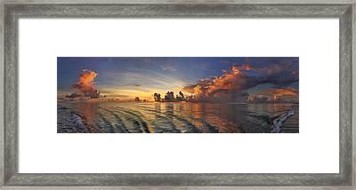 Orange Panorama Framed Print