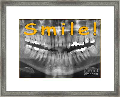 Orange Panoramic Dental X-ray With A Smile  Framed Print by Ilan Rosen