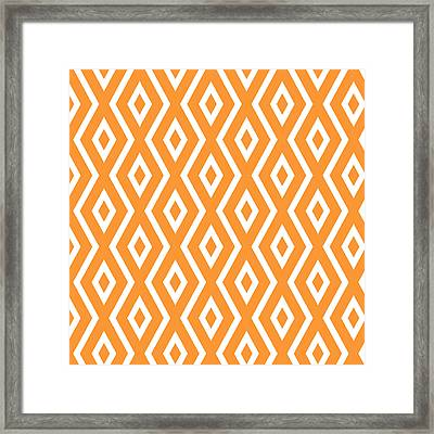 Orange Pattern Framed Print